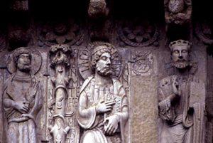 Santiago de Compostela La Puerta de las Platerías Facade Frieze